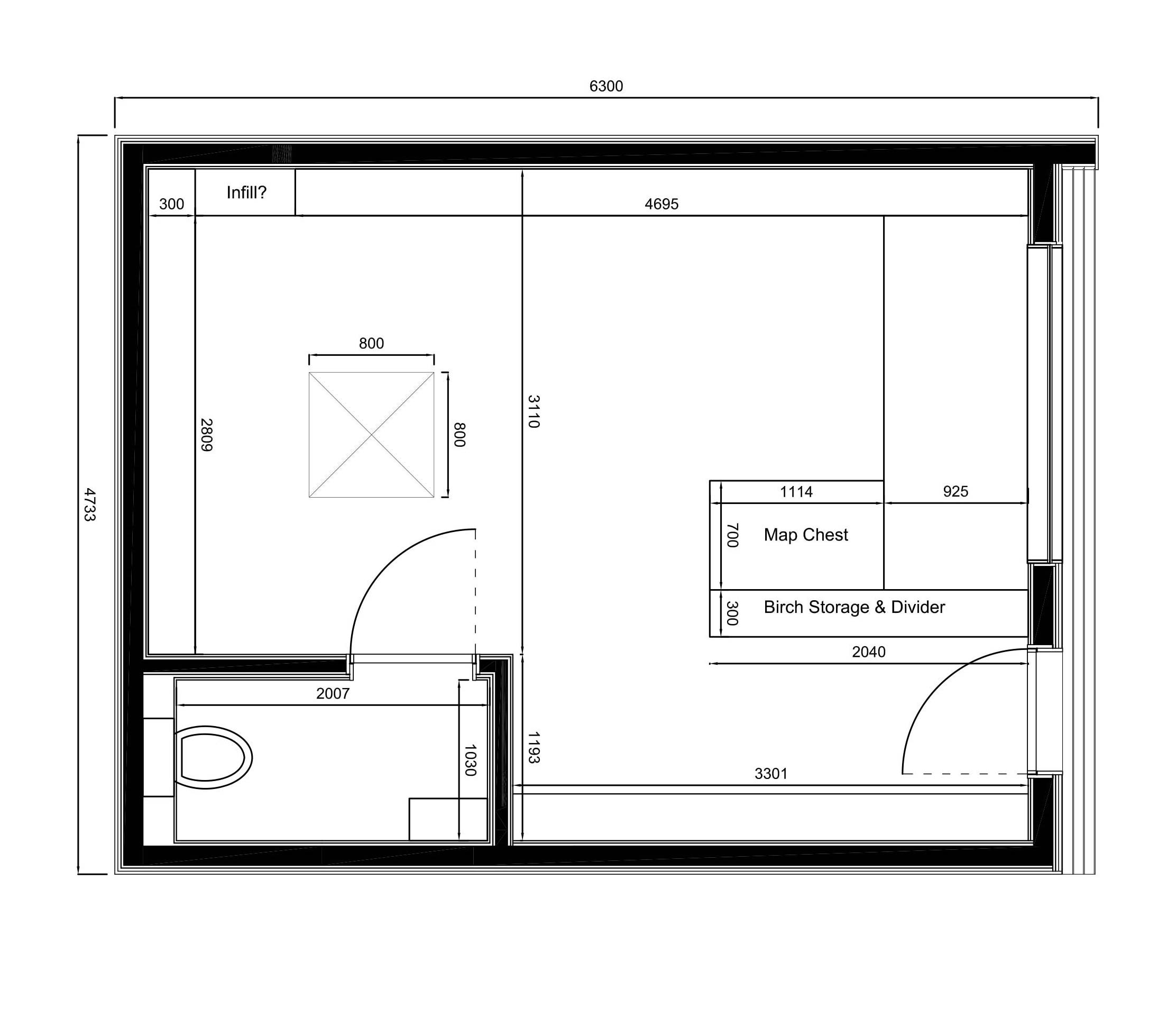 Plans for Room design blueprint